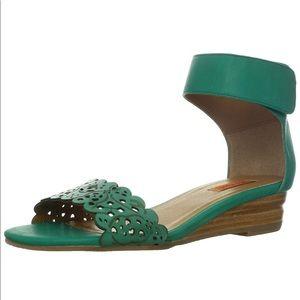 Miz Mooz | Primrose Size 8.5 Green Wedge Sandals
